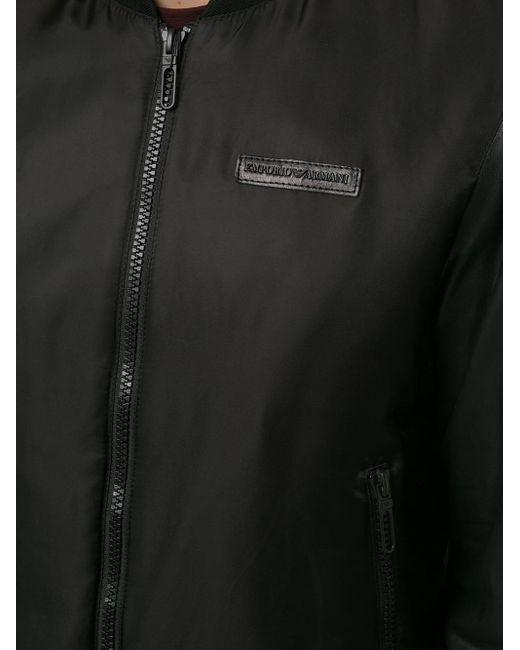 メンズ Emporio Armani ジップ ボンバージャケット Black