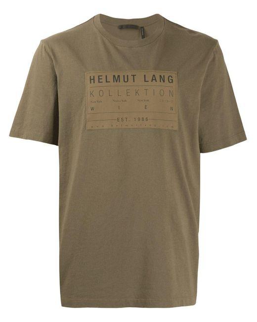 メンズ Helmut Lang ロゴ Tシャツ Green