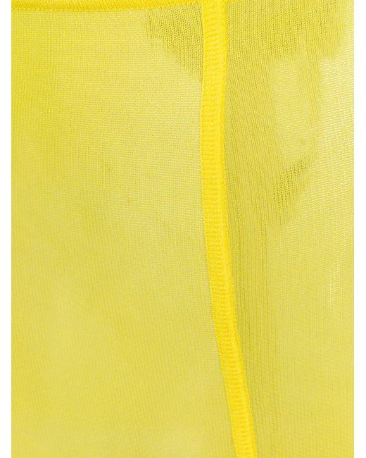 Junya Watanabe ハイウエスト セミシアータイツ Yellow