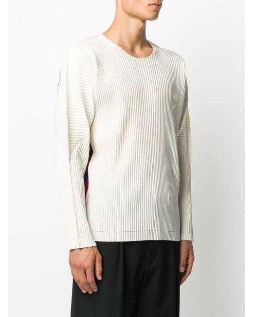 メンズ Homme Plissé Issey Miyake プリント スウェットシャツ White