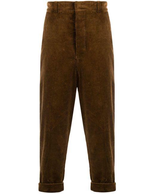 メンズ AMI オーバーサイズ キャロットフィット パンツ Brown