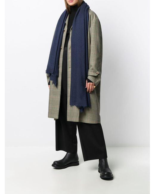 Rick Owens フレイドエッジ スカーフ Blue