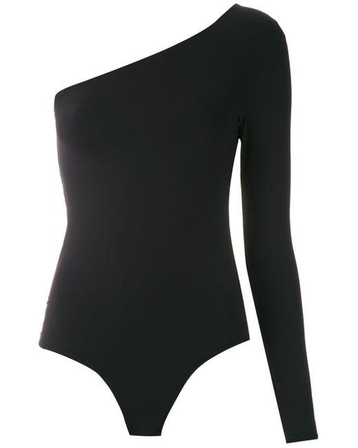 Amir Slama Black Lace Insert Body Top