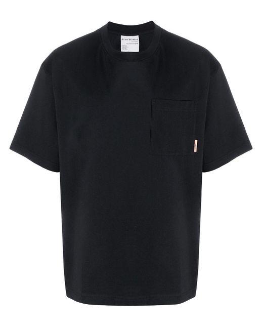 メンズ Acne チェストポケット Tシャツ Black