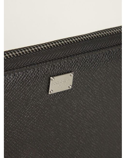 Portafogli continentale di Dolce & Gabbana in Black da Uomo
