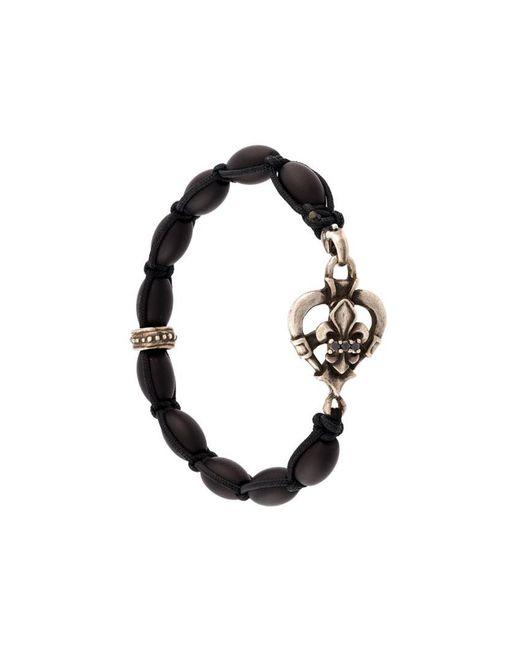 Roman Paul - Black Charm Bracelet for Men - Lyst