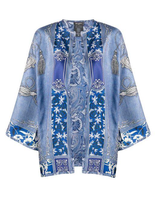 Etro ペイズリージャケット Blue
