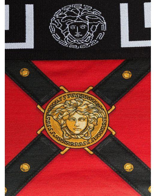 メンズ Versace メデューサ ブリーフ Red