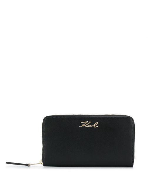 Кошелек K/signature На Молнии Karl Lagerfeld, цвет: Black