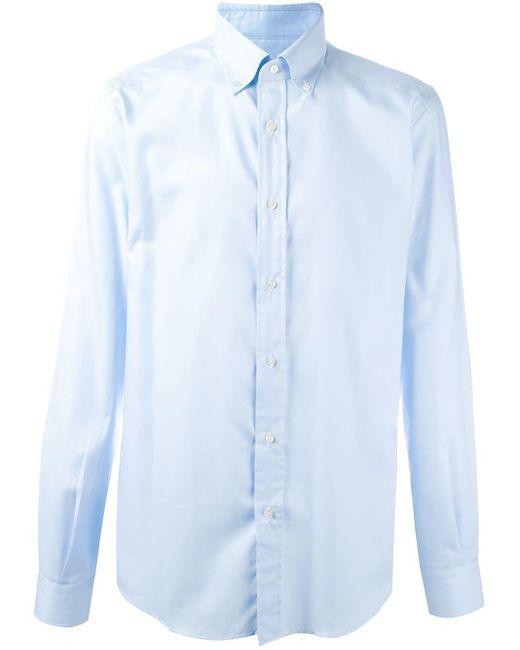 Fashion Clinic Timeless Blue Classic Plain Shirt for men