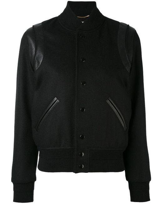 Saint Laurent ボンバージャケット Black
