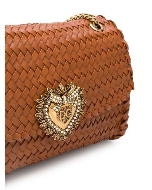 Dolce & Gabbana Devotion ショルダーバッグ Brown