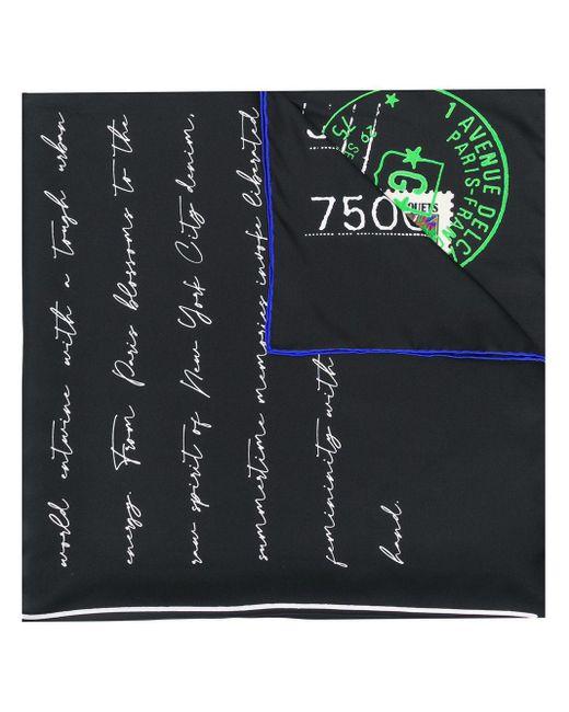 Givenchy Paris プリント スカーフ Black