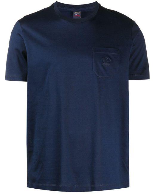 メンズ Paul & Shark パッチポケット Tシャツ Blue