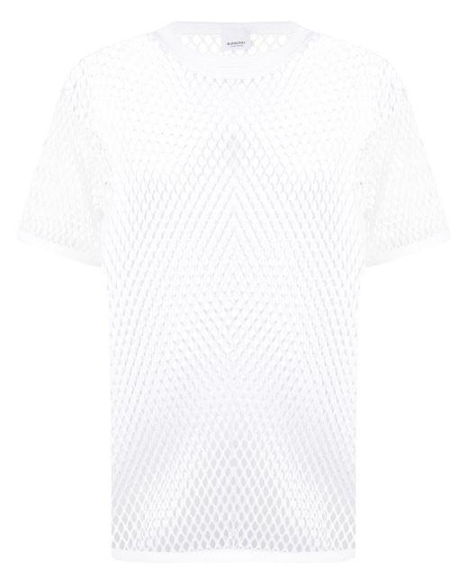 メンズ Burberry メッシュ Tシャツ White