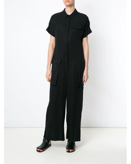 ee86e723aed ... Gloria Coelho - Black Maxi Jumpsuit - Lyst ...