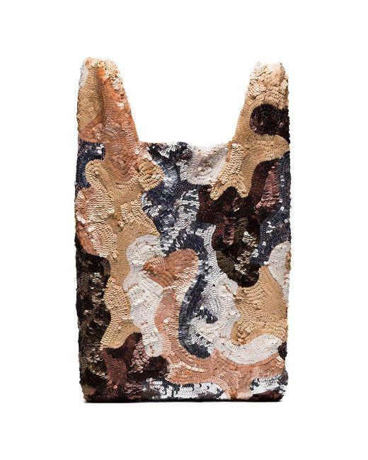 Ashish Multicolor Multicoloured Sequin Patchwork Tote Bag