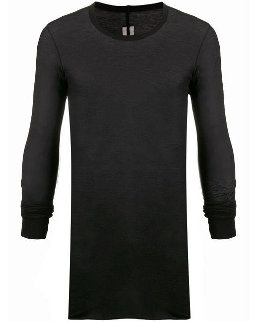 メンズ Rick Owens ツイストシーム Tシャツ Black