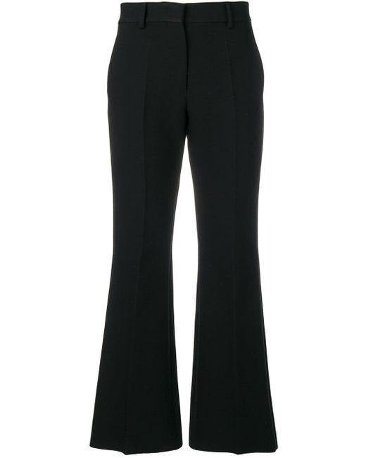 MSGM Black Ausgestellte Cropped-Hose