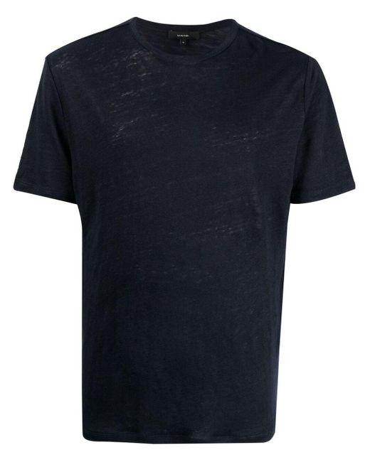 メンズ Vince リネン Tシャツ Blue
