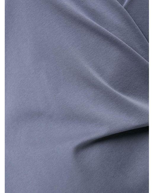 Goen.J ノットディテール Tシャツ Blue