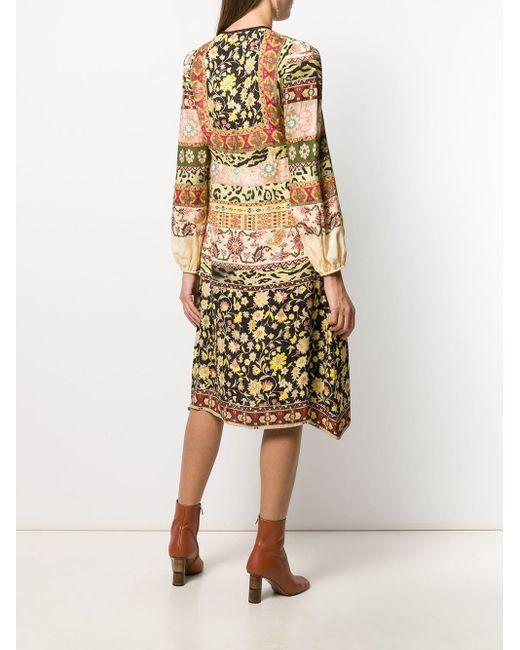 Robe courte à imprimés multiples Etro en coloris Multicolor