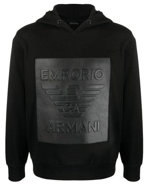 メンズ Emporio Armani プルオーバー パーカー Black