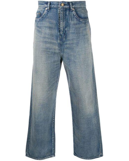 Широкие Джинсы Saint Laurent для него, цвет: Blue