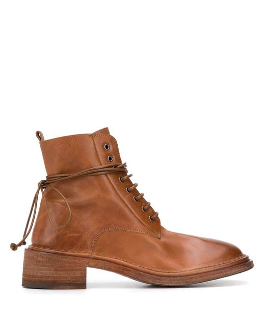 Marsèll Brown Lace-up Ankle Boots