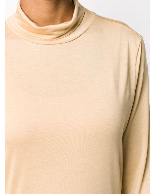 Top con cuello vuelto y manga larga Filippa K de color Natural