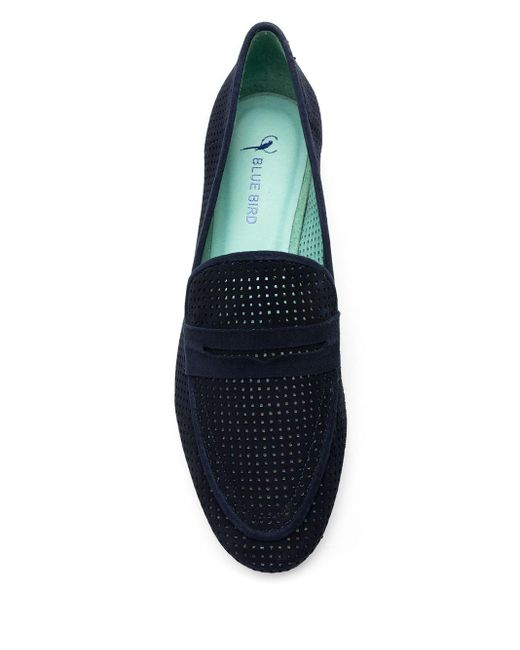 Blue Bird Shoes パーフォレーテッド ローファー Blue