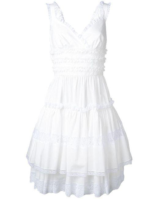 Dolce & Gabbana レーストリム ドレス White