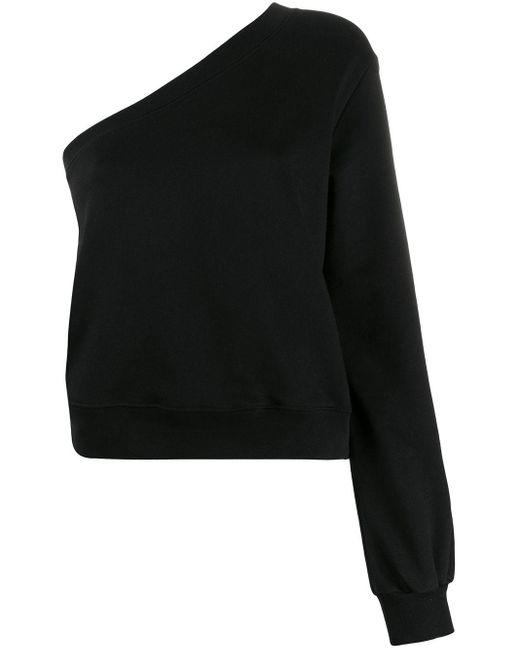 Толстовка На Одно Плечо MSGM, цвет: Black