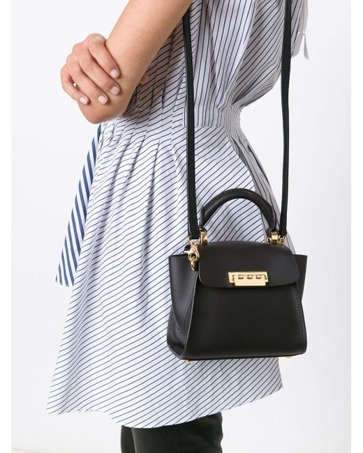 Zac Zac Posen Eartha Iconic Top Handle Mini 斜めがけバッグ Black