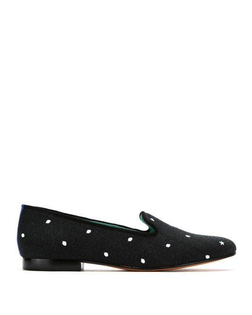Blue Bird Shoes Petit Pois-loafers in het Black