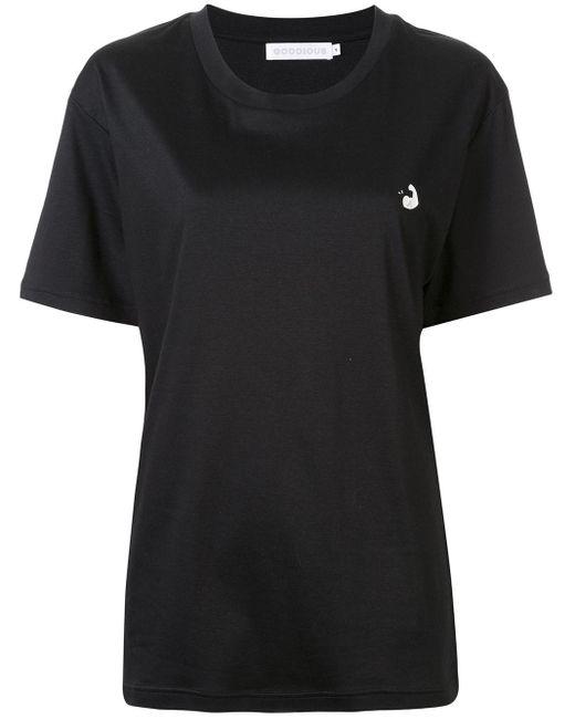 GOODIOUS スローガン Tシャツ Black