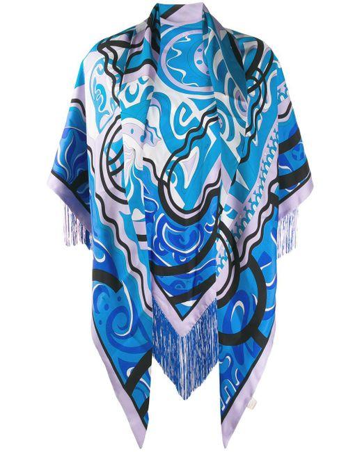 Шаль С Абстрактным Принтом Emilio Pucci, цвет: Blue