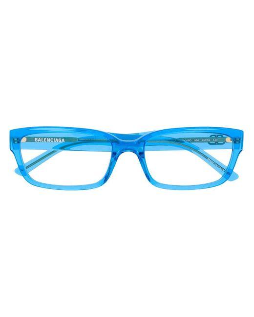 Balenciaga スクエア眼鏡フレーム Blue