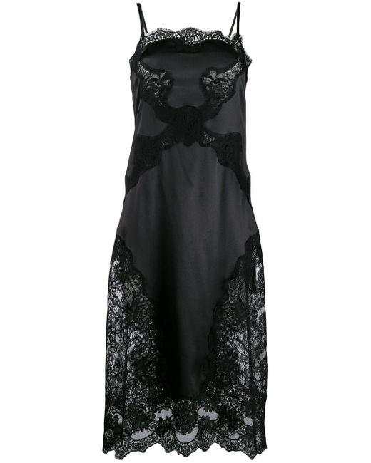 Dolce & Gabbana サテン スリップドレス Black