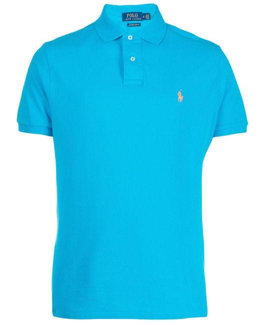 Polo con logo bordado Polo Ralph Lauren de hombre de color Blue