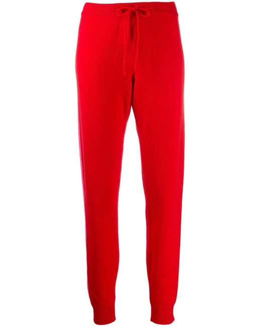 Chinti & Parker Red Side Stripe Knitted joggers