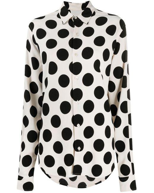 AMI Black Polka-dot Shirt