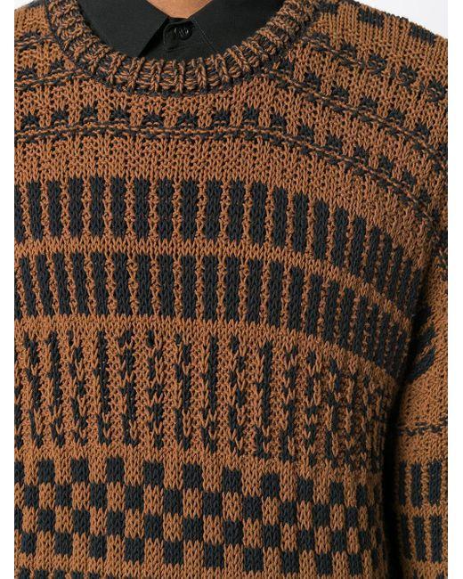 メンズ AMI クルーネック オーバーサイズ セーター Black