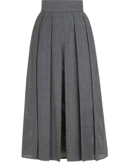 Fendi プリーツスカート Gray
