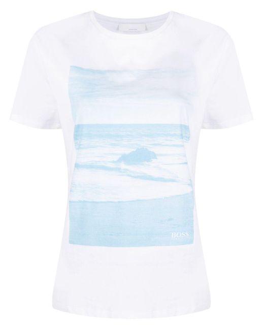 BOSS by Hugo Boss フォトプリント Tシャツ White