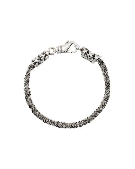 Torsion Bracelet Emanuele Bicocchi, цвет: Metallic