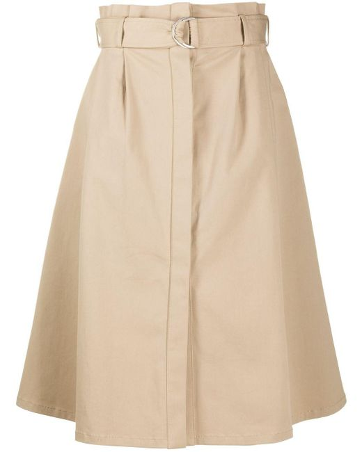 P.A.R.O.S.H. Natural Cyber A-line Skirt