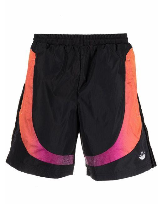 Shorts sportivi con logo di Adidas in Black da Uomo