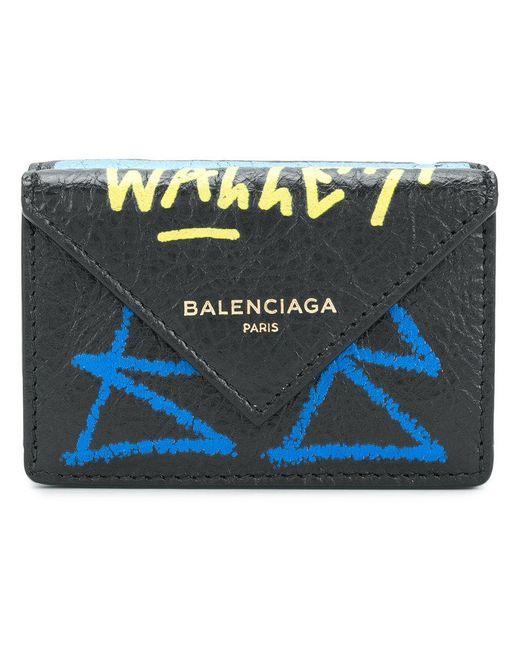Balenciaga - Black Papier Wallet - Lyst