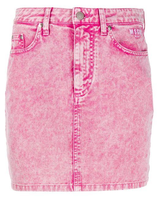 MSGM デニム ミニスカート Pink